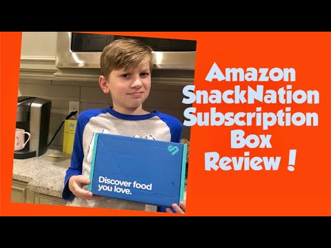 AMAZON SnackNation Subscription Box - Review And Unboxing!