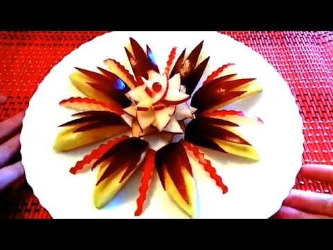 HOW TO CUT APPLE BEAUTIFUL ART IN APPLE FRUIT CARVING HOW TO - Amazing artist carves beautiful designs paper
