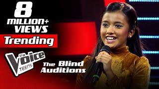 Sahangi Hansanjali  Kiththane (කතතන)  Blind Auditions  The Voice Teens Sri Lanka