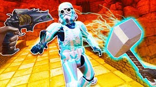 Destroying Stormtroopers with Thor's Mjolnir and Destiny Weapons in Blade and Sorcery VR!