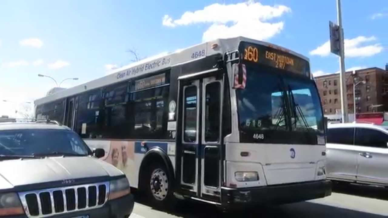 Mta Bus E Midtown Bound Orion Vii Ng 4648 Q60 No Front Stripe At