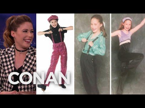 Amanda Crew Awkward Dance Photos   CONAN on TBS