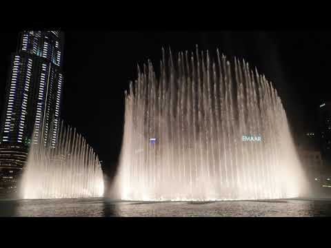 Dubai Fountain  – valentines day special – I'll never love again 'a star is born'