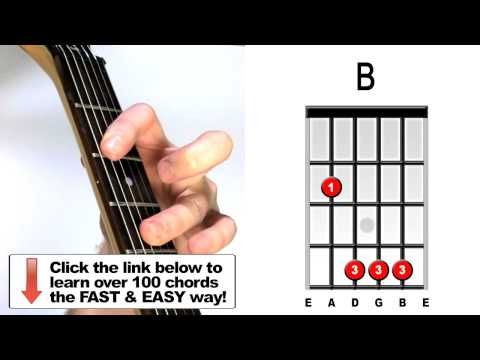 How to play B major - Guitar Chords
