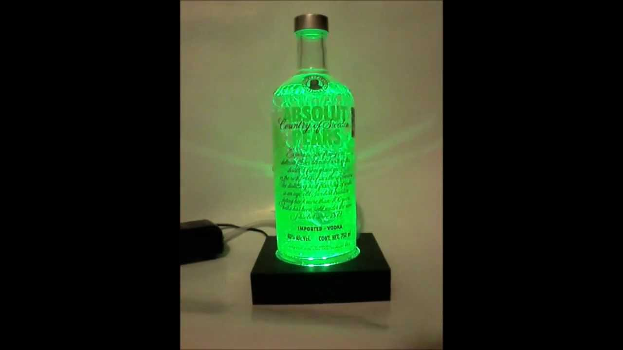 Lampara Absolut Vodka  YouTube
