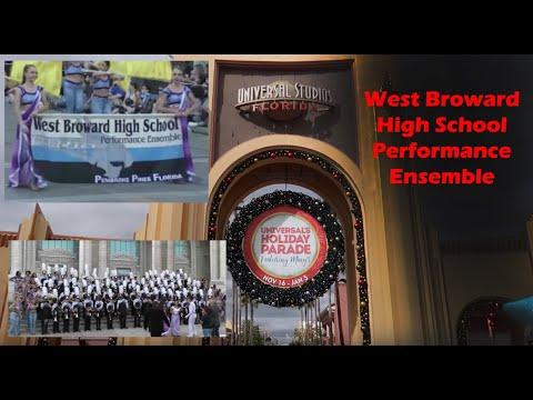 West Broward High School Performance Ensemble at Universal Studios, Florida 2019 Holiday Parade
