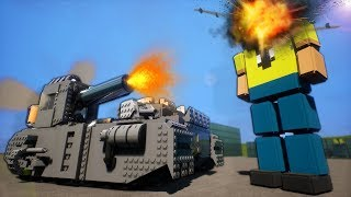 Awesome Lego Tank Explodes a Ragdoll Army! - Brick Rigs Gameplay