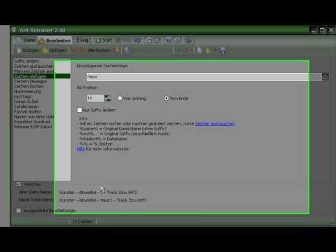 Ant Renamer, Umbenennen von vielen Dateien (Daten), schnell und einfach - 009