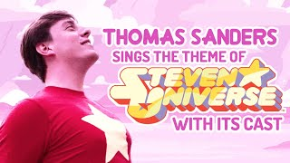 """Thomas Sanders with the Steven Universe cast singing """"We are the Crystal Gems"""""""