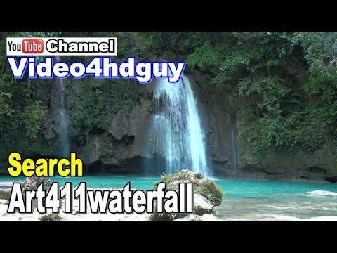 Waterfall HD Kawasan  Screensaver peaceful relaxing, music soundtrack WF11   art411waterfall™