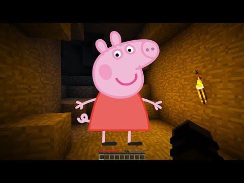 NE JAMAIS FAIRE SPAWN GEORGE PIG A 3H DU MATIN MINECRAFT !! 😰 | (Petit Frère de Peppa Pig Base)