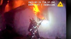 Caught on camera: Florida woman rescued from house fire