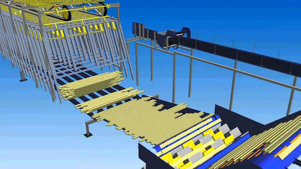 Simulation of timber production in Raunio sawmill