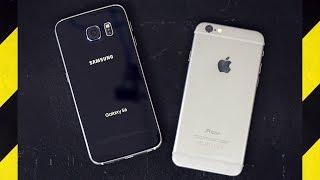 Galaxy S6 vs. iPhone 6 Drop Test!