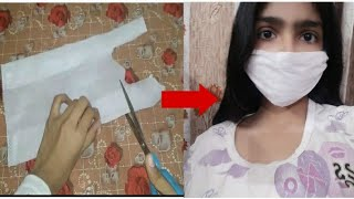 DIY CHEAP MASK WITH WASTE CLOT…