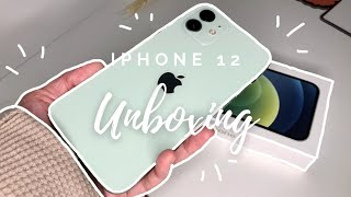 Green Iphone 12 unboxing 💚🍀