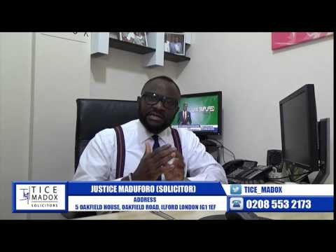 Tice Madox Solicitors - Immigration: EEA Spouse Interview by Justice Maduforo (Solicitor)