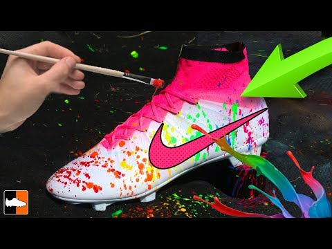 How To Splatter Paint Your Football Boots!