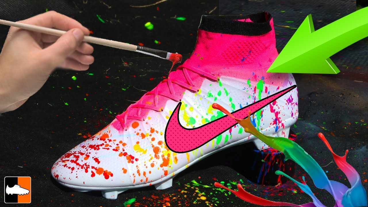 7cb199268 How To Splatter Paint Your Football Boots! - YouTube