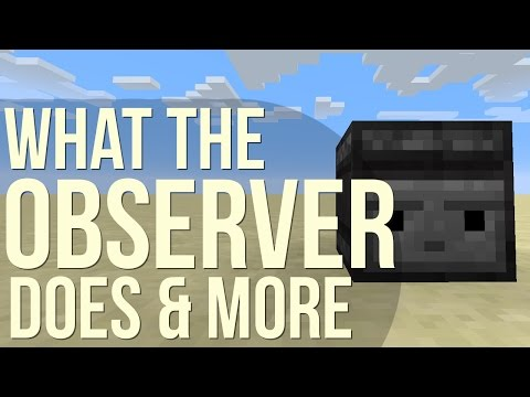 What The 'Observer' Observes - Minecraft Tutorial