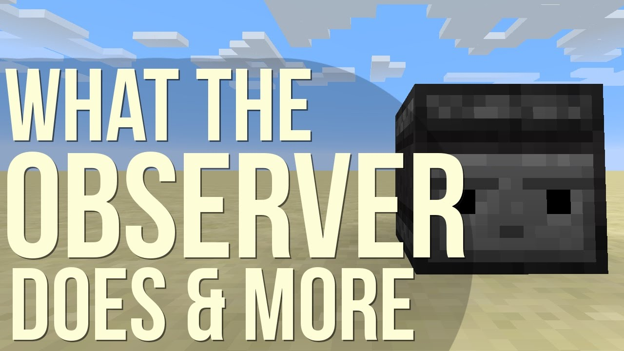 What the 'Observer' observes - Minecraft Tutorial - YouTube