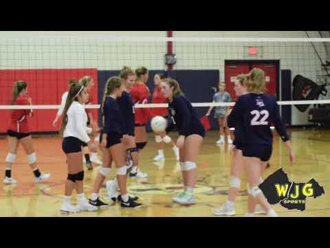 WJG SPORTS HIGHLIGHT FILMS: Wayne Country Day vs Arendell Parrott Academy volleyball