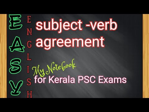 English Grammar Lessons For Ldckerala Psc Exams Subject Verb