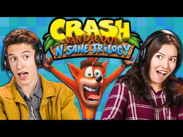 HARDEST GAME EVER?!   Crash Bandicoot N Sane Trilogy (React: Gaming)