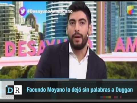 Facundo Moyano lo dejó sin palabras a Duggan