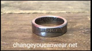 Clad Washington quarter coin rings