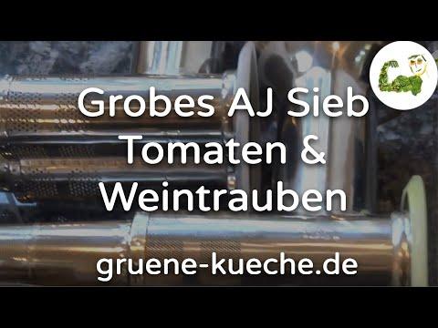Angel Juicer Grobsieb - Tomaten und Weintrauben entsaften (Teile 1 & 2)