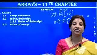 I PUC | Computer Science | Arrays- 3