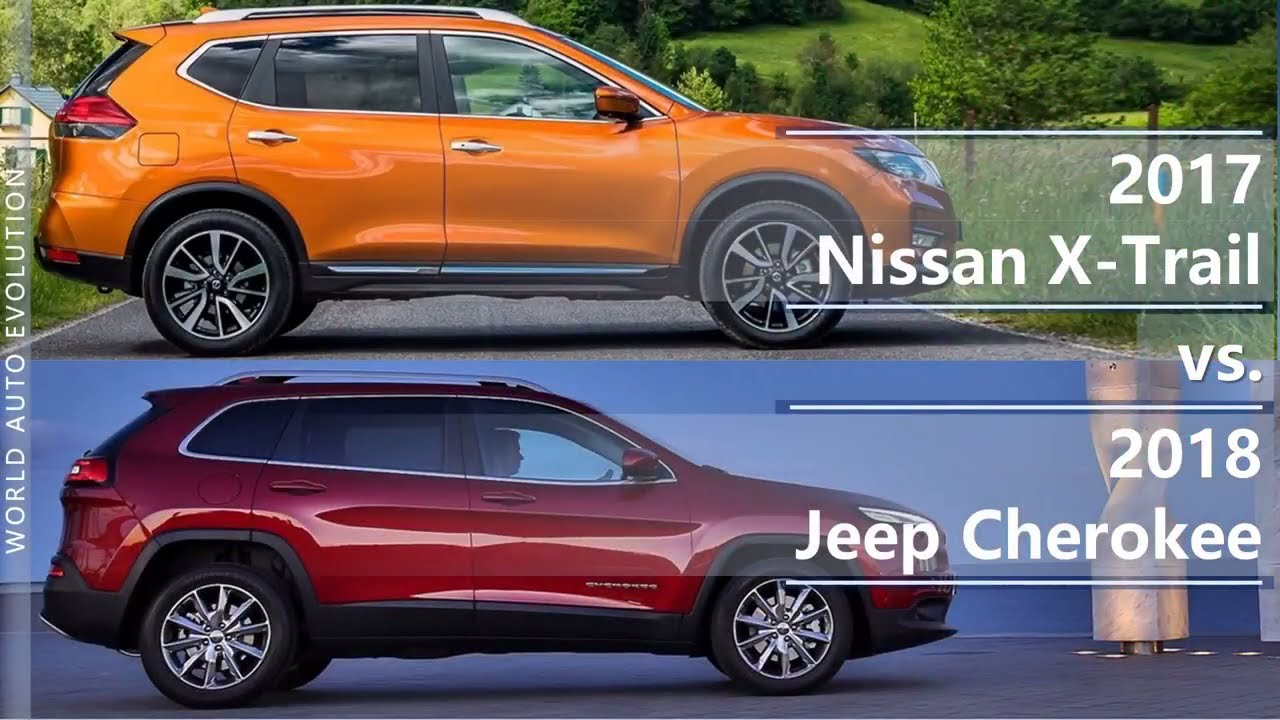 2017 Nissan X Trail Vs 2018 Jeep Cherokee Technical Comparison
