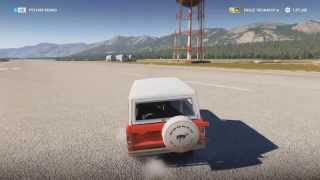 Forza Horizon 2 - Dubai Stunts!! ( 2 Wheel Driving In The Bronco!! )