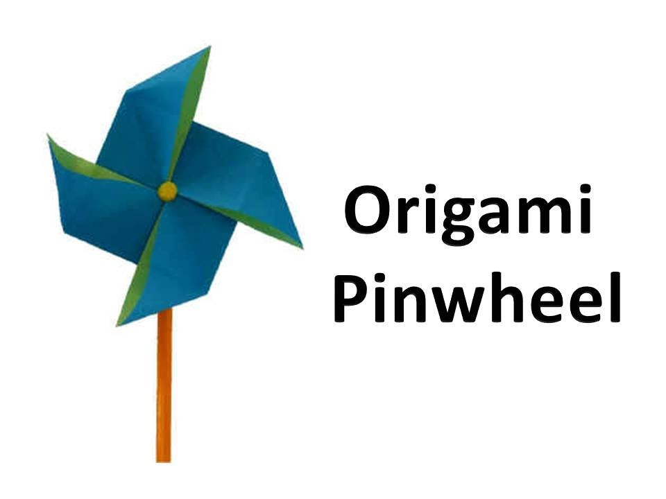 How To Make An Origami Pinwheel - Windmill - YouTube
