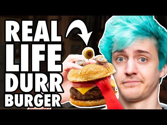 Real Life Durr Burger Taste Test ft. Ninja