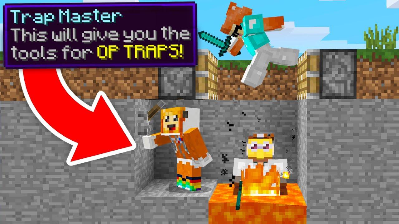 minecraft manhunt but I am a TRAP MASTER (overpowered)
