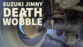 Suzuki Jimny death wobble - under car view