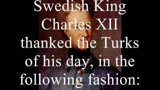 King of Sweden talking about the Turks