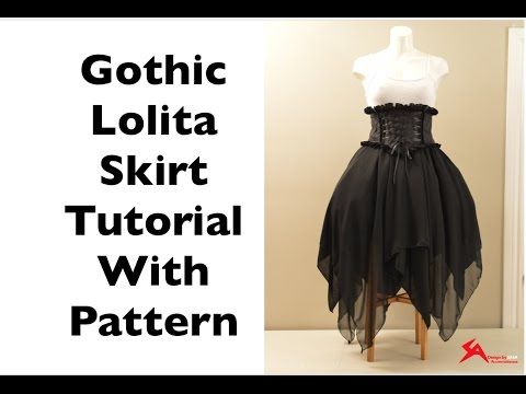 How to Make: Asymmetrical Gothic Lolita Chiffon Skirt Sewing ...