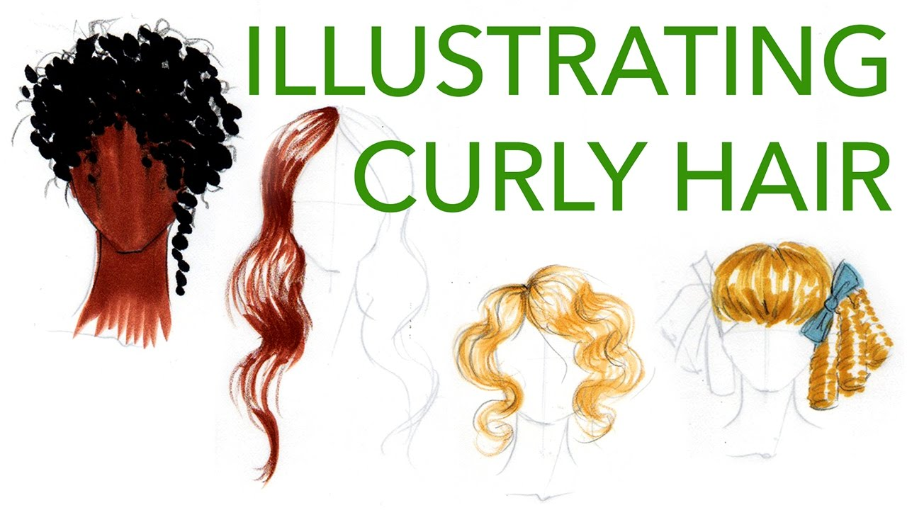 How To Draw And Illustrate Curly Hair Styles Youtube
