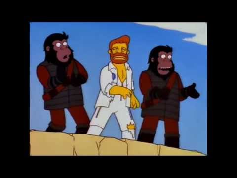 The Simpsons - Planet of the Apes (the musical) starring Troy McClure