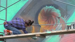 Фото ЦБС им. Толстого   Процесс создания граффити в рамках конкурса фестиваля Стенография