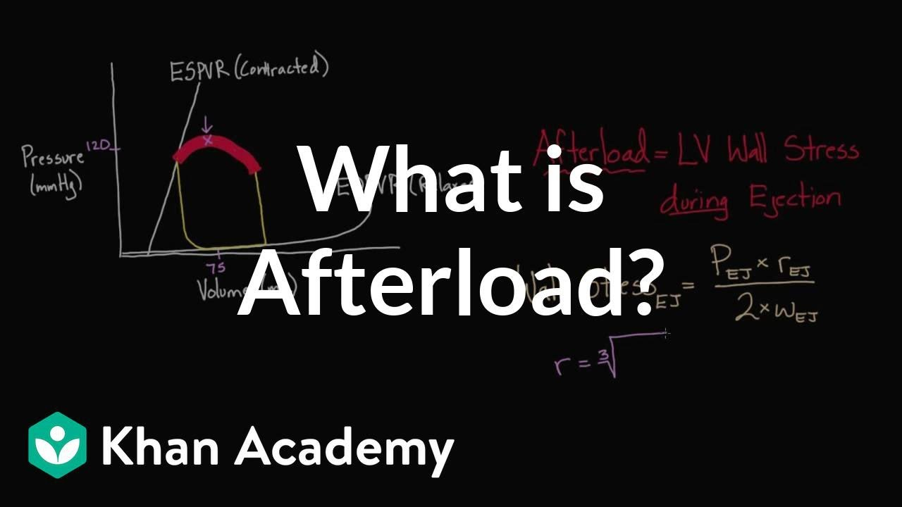 What is afterload? (video) | Khan Academy