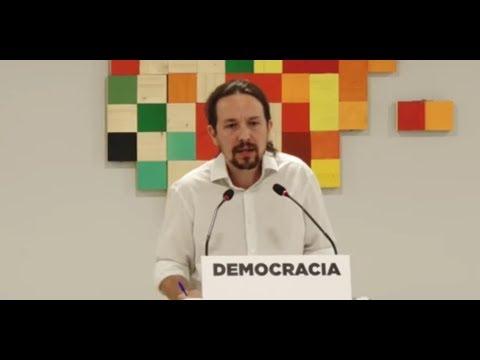 PABLO IGLESIAS (Podemos) - Rueda de prensa REFERENDUM CATALUÑA (01/10/2017)