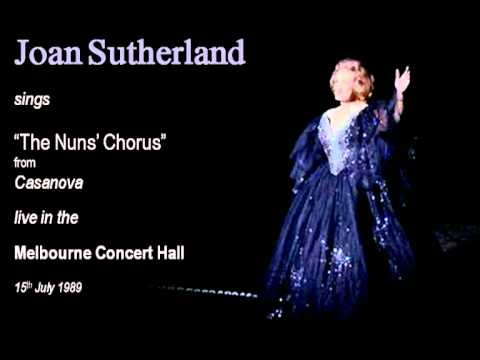 Joan Sutherland sings The Nuns' Chorus live in Melbourne in 1989