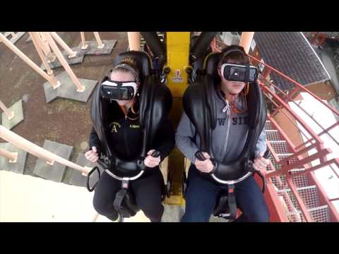 The New Revolution: Galactic Attack VR Coaster Reverse POV Six Flags Discovery Kingdom