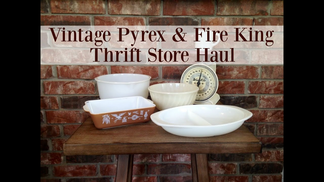 Vintage Pyrex and Fire King Thrift Store Haul : vintage pyrex dinnerware - pezcame.com