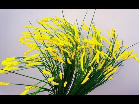 ABC TV | How To Make Grass Flower - Craft Tutorial