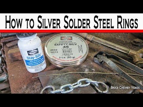 Soldering - How to Silver Solder Steel Rings - Harris Solder and Flux - Metal Soldering Tutorial